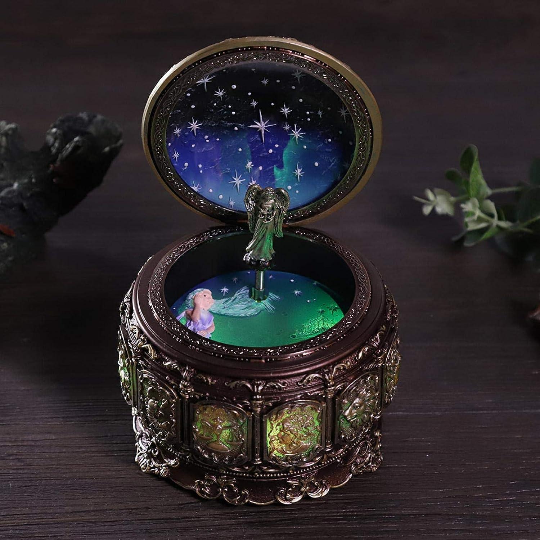 Scorpio Cerlingwee Bo/îte /à Musique LED lumi/ères Constellations bo/îte /à Musique d/écoration de la Maison Vintage bo/îte /à Musique