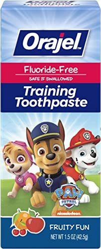 Orajel Fluoride-Free Training Toothpaste for Toddlers, Paw Patrol, 42.5-g