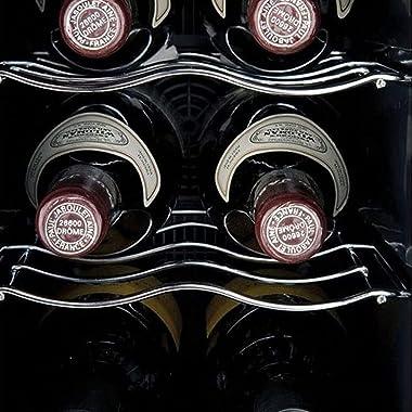 Koblenz 6-Bottle Free Standing Single Zone Fridge and Chiller Wine Cooler, One Size, Black