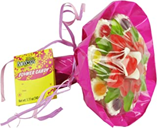 Raindrops Flower Gummy and Soft Candy Bouquet, 5.11 Ounces, Colors Vary