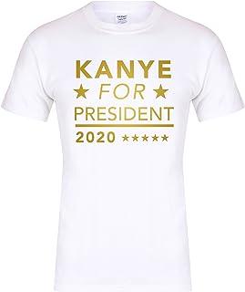 Unisex Slogan T-Shirt Kanye For President 2020 White