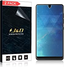 J&D Compatible for 2-Pack Essential PH-1 Screen Protector (Not Glass), [No Lifted Edges] [Bubble Free] [Not Full Coverage] Wet Applied HD Clear Screen Protector for Essential PH-1 Screen Protector