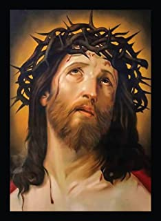 BIRD'S MIND Wall Hanging Synthetic Wood Jesus Christ Religious Photo Frame Poster Home Decor Living Room Shop Wall Art Fra...
