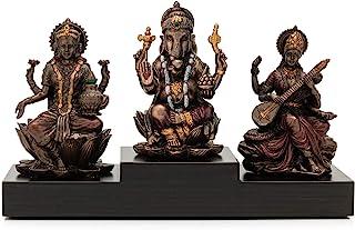 CraftVatika Goddess Laxmi Ganesha Saraswati Idol Murti Lakshmi Ganesh Idols Showpiece Statue for Home Office Success Templ...