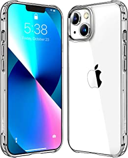 Mkeke Compatible with iPhone 13 Case Clear, Transparent Shockproof Protective Phone Cases for iPhone 13 Released 2021