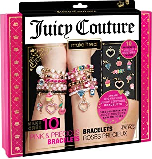 Make It Real - Juicy Couture Pink and Precious Bracelets - DIY Charm Bracelet Kit with Beads for Tween Jewelry Making - Je...