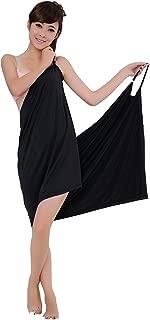 Sexy Women Deep V Sling Bath Skirt Lady Beach Bath Dress Soft Spa Bath Towel 55''28''