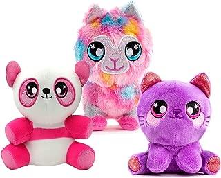 Squeezamals 3Deez, 3 Pack (Kitty Sophia, Panda Samantha, Llama Jenny) Slow-Rise Foam Stuffed Animals
