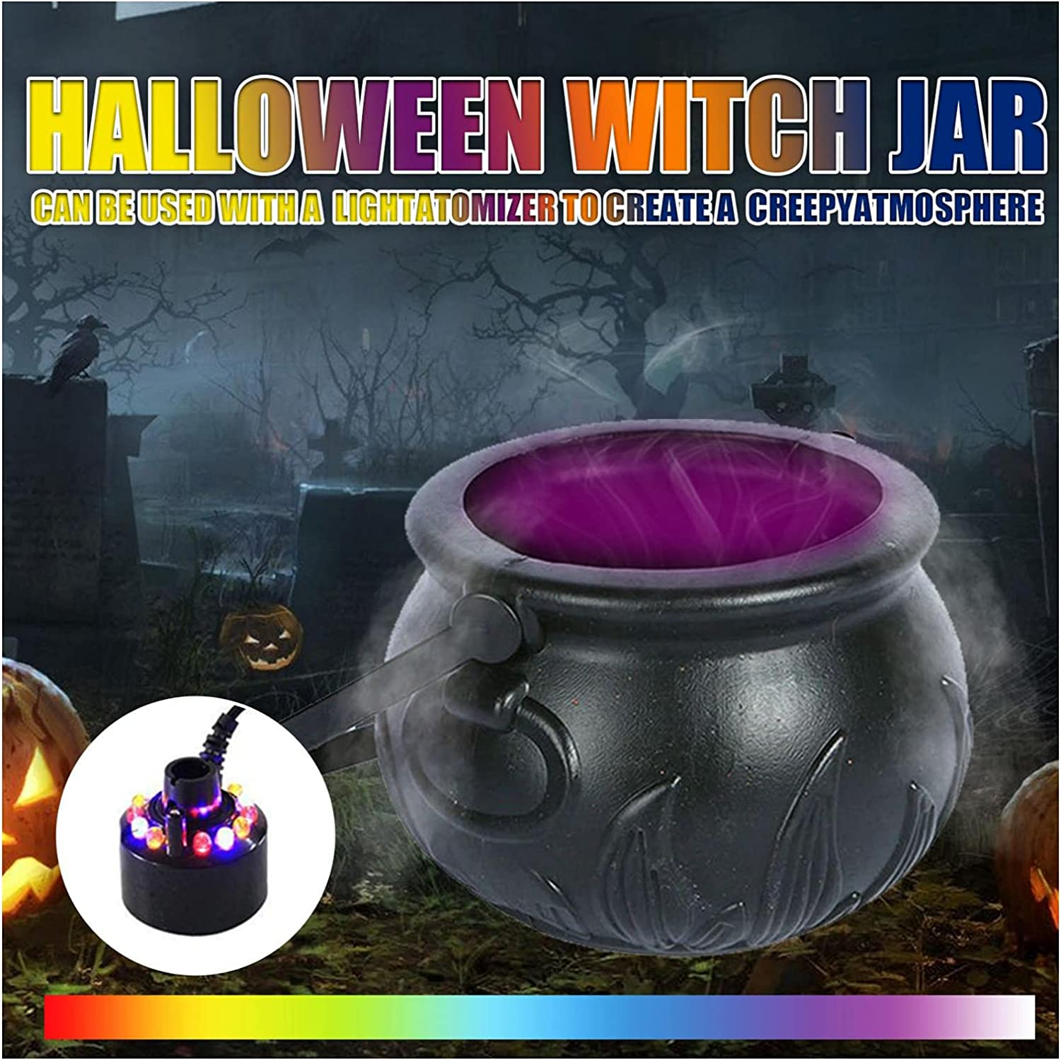Halloween Witch Cauldron Max 72% OFF Mist Online limited product Wi Maker Horror Creative