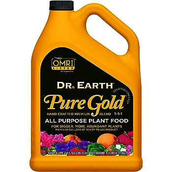 Dr. Earth Liquid Pure Gold All Purpose Fertilizer 1 Gallon