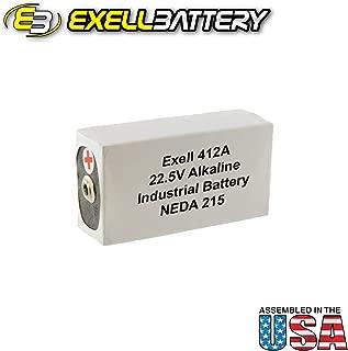Exell 412A Alkaline 22.5V Battery NEDA 215, 15F20, Eveready 15F20 , Eveready 412, Eveready B122, Eveready BLR122, BA 261/U, BLR-122, BLR122, M122, M215, M2152, MN122, PX72, U15, UG015, V72PX, VS084