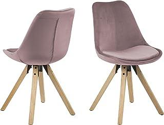 Amazon Brand - Movian Arendsee - Juego de 2 sillas de comedor 55 x 485 x 85cm rosa
