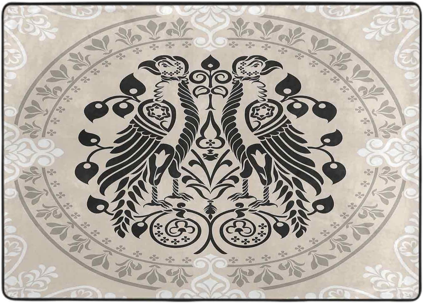 Carpets for Living Cash special price Room Large special price Heraldic Birds Floral Damask with Eagle