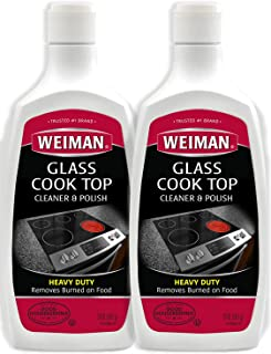 Weiman Glass Cook Top Cleaner and Polish - 20 Ounce (2 Pack) Heavy Duty Non-Scratch Glass Ceramic Safe Non-Abrasive Stovetop Cooktop Cleaner