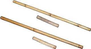 "Small 24"" Filipino Syatong Chato Game - 2 Wood Stick Sets: 2pc - 24"" & 2pc Short larong, Pinoy"