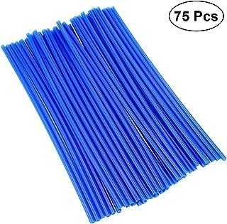 bleu d/écoratifs pour manteaux tuyaux pour roues de moto garnitures Lot de 36 protections pour rayons de motocross