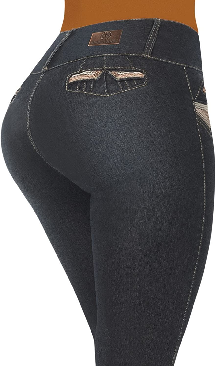Equilibrium  Women's Ankle Length Jean  Skinny  Curvy Butt Lifter  Stretch Denim  Mid Rise  J8715