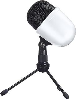 AmazonBasics Desktop Mini Condenser Microphone - White