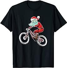 Funny Biking Christmas Mountain Bike Santa Claus MTB T-Shirt