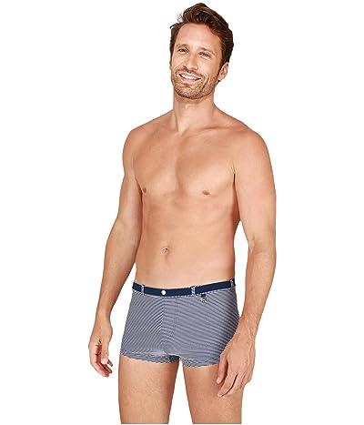 HOM Belem Swim Shorts (Navy/White) Men