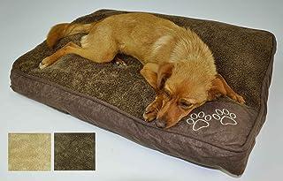 Casatessile Cuscinoso Cama para Perros en Varios tamaños - Beige Pequeno