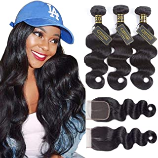 QTHAIR 12A Brazilian Body Wave with Closure(16
