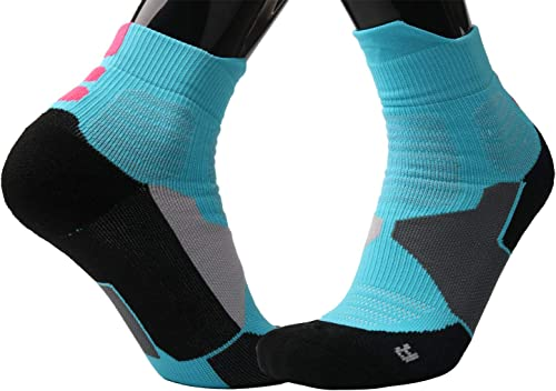 Mkkoluy Professional Ankle Basketball Socks for People with Shoe Size 6-11(2/4 Pairs)