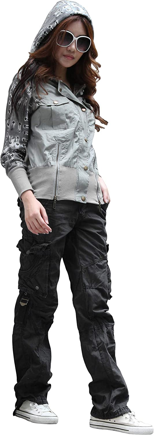 Womens 100% Cotton Tactical Pant Spring 2021 autumn and winter new new work one after another Hiking Army Comba Cargo Camping