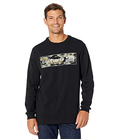 Carhartt Relaxed Fit Midweight Long Sleeve USA Flag Graphic T-Shirt
