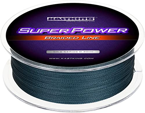 KastKing Superpower Braided Fishing Line - Abrasion Resistant Braided Lines – Incredible Superline – Zero Stretch – S...