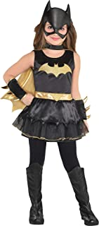 Costumes USA DC Comics: The New 52 Batgirl Costume for Toddler Girls, Size 3-4T, Includes a Dress, Gauntlets, and More