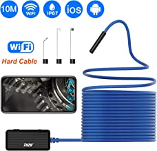 Wireless Endoscope, THZY 2.0 MP HD WiFi Borescope Inspection Camera Semi-Rigid Snake Camera for Android and iOS Smartphone, iPhone, Samsung, Tablet -Blue 33FT