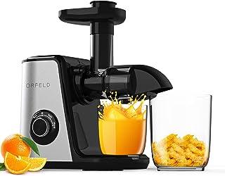 Orfeld ジューサーマシン 野菜と果物 スローマスティケーティングジューサー抽出器 お手入れ簡単 BPAフリー 静音モーター 逆機能 コールドプレスジューサー 人参 オレンジ セロリなどに