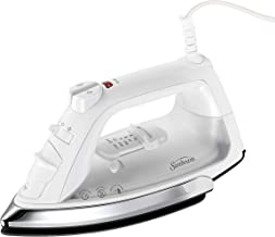 Sunbeam Classic 1200 Watt Mid-size Anti-Drip Non-Stick Soleplate Iron with Shot of Steam/Vertical Shot feature and 8' 360-...