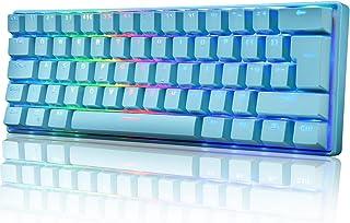 UK Layout 60% Mechanische Gaming Tastatur Typ C verkabelt 61 Tasten LED beleuchtete USB wasserdichte Tastatur 14 Chroma RGB Hintergrundbeleuchtung Anti Ghosting Tasten für Computer/PC/Lapto/MAC