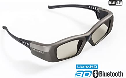 "Hi-Shock""Oxid Diamond""   Dual Play RF/BT Pro 3D Glasses for HDR/FullHD / 4k 3DTV, RF 3D projectors comp. with SSG-3570CR / TDG-BT500A / AN3DG35 / TY-ER3D6ME / FPT-AG04 / AG-S350 / FPS3D08"