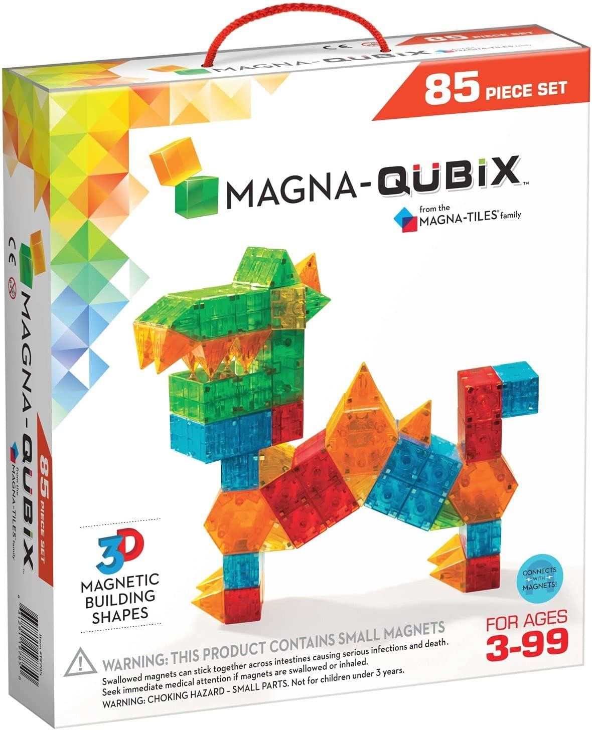 NEW Magna-Qubix 85-Piece Set Max 50% OFF The Original Building Blocks Magnetic