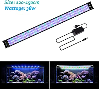 JOYHILL LED Aquarium Lights,Fish Tank Light with Extendable Brackets,Suitable for Aquatic Reef Coral Plants and Fish Keeping