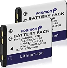 Fosmon (2 Paquetes) Olympus Li-42B de Iones de Litio batería Recargable