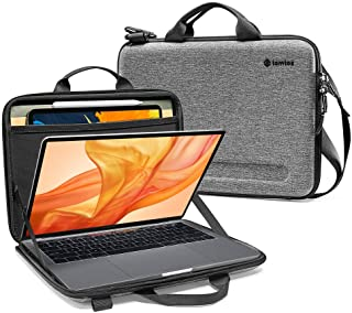 tomtoc Hardshell Shoulder Case for 13-inch New MacBook Air A1932, MacBook Pro A2159 A1989 A1706 A1708, Organized Shoulder Bag with Tablet Pocket for Up to 11 Inch iPad Pro with Smart Case Keyboard