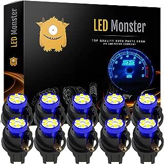 ⭐️ LED Monster T10 194 LED Light bulb 168 LED Bulbs Bright Instrument Panel Gauge Cluster Dashboard LED Light Bulbs Set 10 T10 LED Bulbs with 10 Twist Lock Socket – Blue
