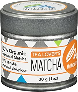 Organic Ceremonial Grade Matcha Green Tea - 100% Japanese Matcha - Smooth Great Taste - Independently Tested