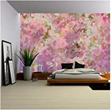 wall26 - Seamless Pattern with Spring Cherry Blossom. Painting Style Floral Art - Removable Wall Mural | Self-Adhesive Large Wallpaper - 100x144 inches
