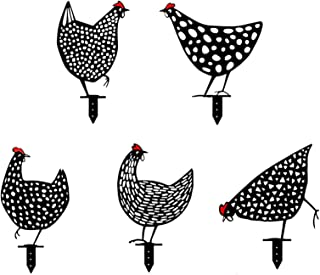 kelebin Chicken Yard Art Garden Lawn Floor Decoration Ornament Hollow Out Animal Shape Decor