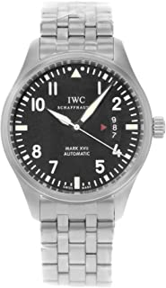 Men's Swiss Automatic Watch with Stainless Steel Strap, Black (Model: IW326504)