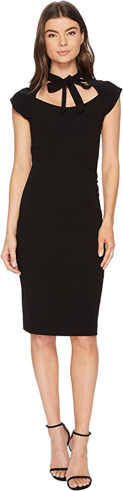 Nicole Miller - Structured Heavy Jersey Neck Tie Dress