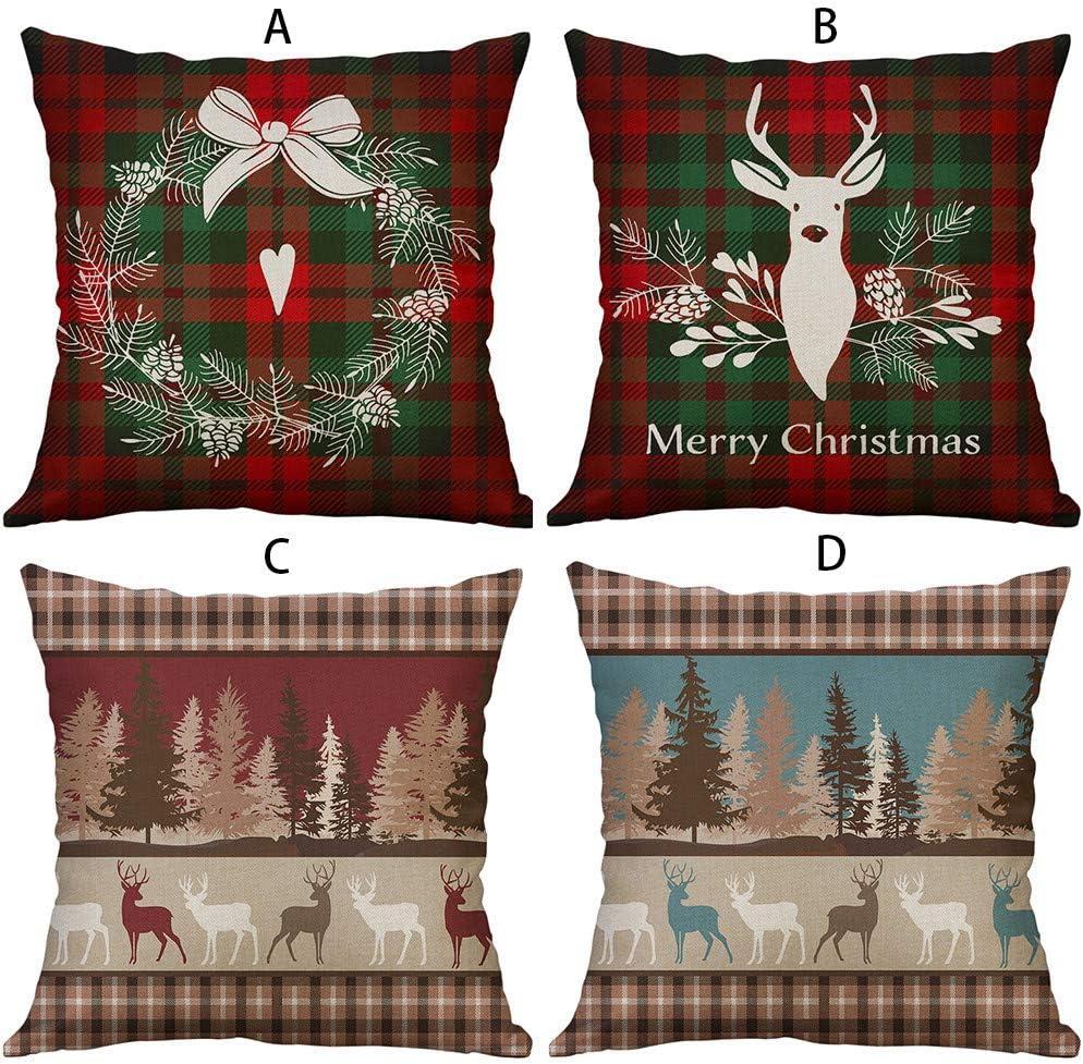 40cm A, 40cm*40cm Mamum Merry Christmas Housse de Coussin Decoration scandinave Deco Coussins canape Bureau D/écoratif taie doreiller 45 45cm// 40