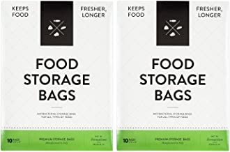 Formaticum Food Storage Bags - Keeps All Food Fresher Longer. Preserve Produce, Fruits, Vegetables, Meat, Cheese, Seafood and Baked Goods (2 Packs, 20 Bags)