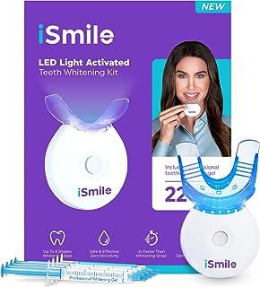 iSmile Teeth Whitening Kit – LED Light, 35% Carbamide Peroxide, (3) 3ml Gel..