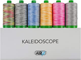 Aurifil Thread Set ''Kaleidoscope'' Collection - 6 Large (1094 Yards Each) 40wt Variegated Spools AC40KC6